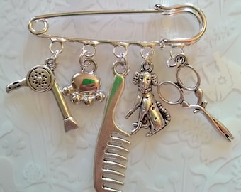 Dog Groomers gift~Dog Parlour Gift~Grooming Charms~horse vet brooch