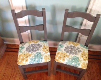 Two Upholstered Chairs, Desk Chair, Kitchen Chairs