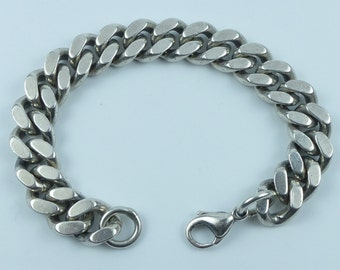 Gents Silver bracelet with lobster clasp