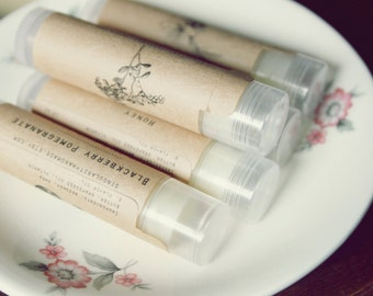 Cherry Beeswax Lip Balm with Vitamin E // handmade natural lip balm // perfect stocking stuffer or small gift