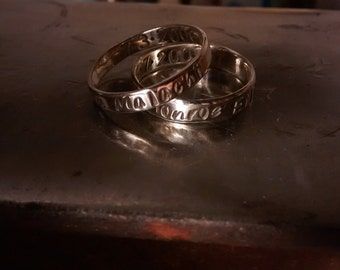 Stackable Customizable Ring - Nickel, Copper, Brass, Red Brass ( Nu Gold )