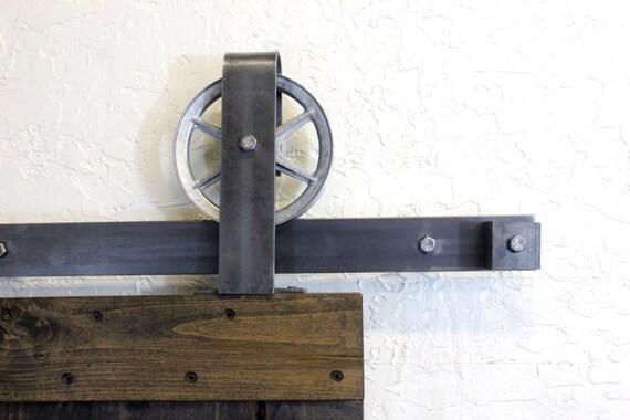 Double door vintage top mount sliding barn door by abahardware for Top mount barn door hardware