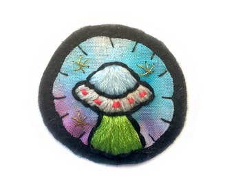 Embroidered UFO Patch
