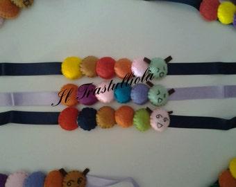 Felt caterpillar bracelet
