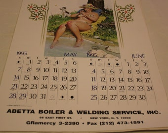 Hilda Calendar Page Duane Breyers May/ June 1995 Abetta Boiler and Welding