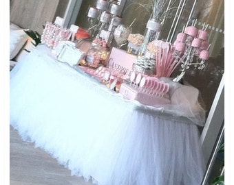 Tutu tableskirt custom handmade baby showers weddings birthday parties bridal showers
