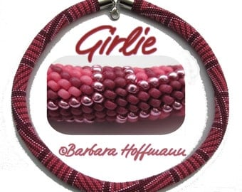 "Pattern for bead crochet necklace ""Girlie"""