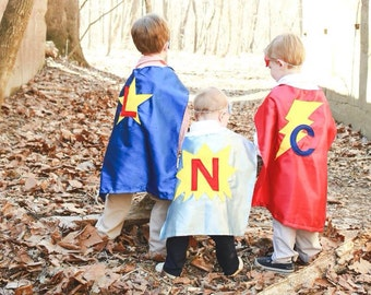 Super Hero Capes for Children - Personalized Kids Capes - Superhero Birthday Gift - Boy Superhero Capes - Ships Quickly