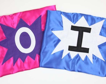 SUPERHERO CAPES for TWINS - Sibling Superhero Capes - Set of 2 Superhero Capes - Family Superhero Capes - Ships Quickly