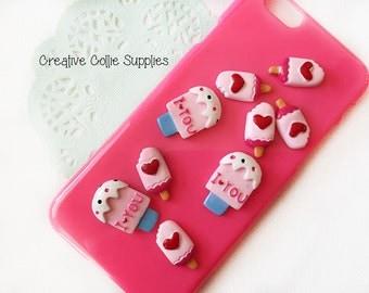 9 Resin Candy Ice Cream Flatback Cabochon Phone Decoration Mix