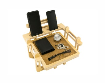 Docking Station - Two Phone Docking Station / 2 Phone Dock Station / Charging Station / iPhone Dock / iPhone / 2 Phone Stand