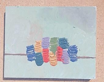 Middle Rainbow Acrylic Painting on Canvas