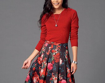 McCall's Sewing Pattern M7253 Misses' Pleated Skirts