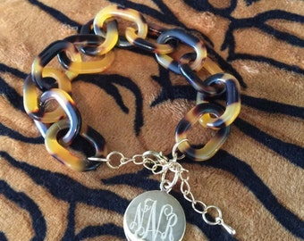 Tortoise Initial Bracelet