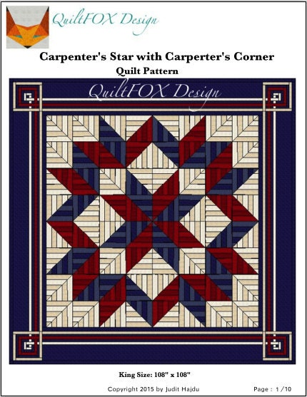 Carpenters Star Quilt Pattern String Quilt Pattern King