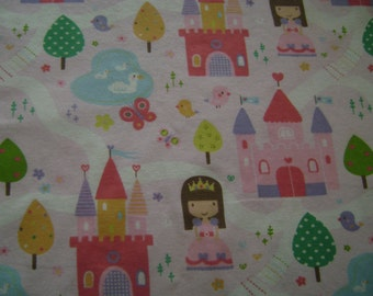 Princess Flannel Fabric by the yard