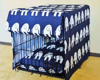 Choose Fabric Crate Cover in ALL sizes, Four Sided Crate Cover with a Double Front Panel, Kennel cover