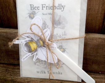 Bee Friendly Packet of Seeds - Can Be Personalised