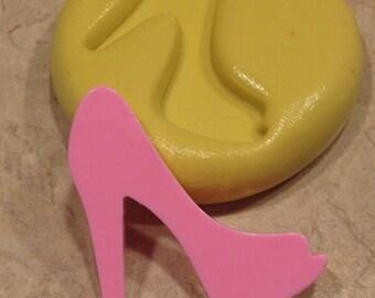 Open toe High Heel Shoe Silicone  mold