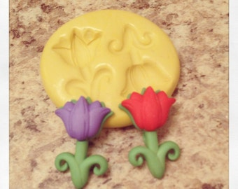 Tulip Spring Flowers Mold Set Silicone
