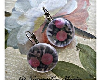Floral Love: Pink Floral Stud Earring Set with/without Silver Lever Back Clips