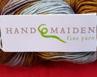 Hand Maiden  Casbah fine yarn hand dyed in Canada  Bronze