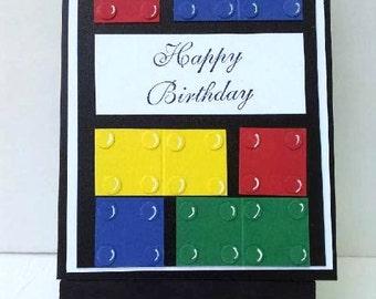 Lego Birthday Card 3-D