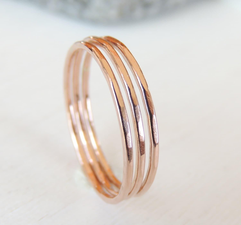 rose gold rings ring set 14k rose gold stacking rings by. Black Bedroom Furniture Sets. Home Design Ideas