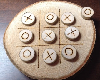 Rustic Wooden Game 'O' & 'X's