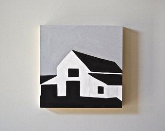 "Modern Barn Painting 12""x12"""