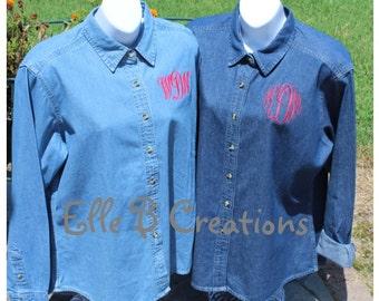 Monogrammed Denim Shirt --