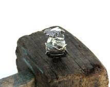 Flintstone ring, spoon ring, fred flintstone ring