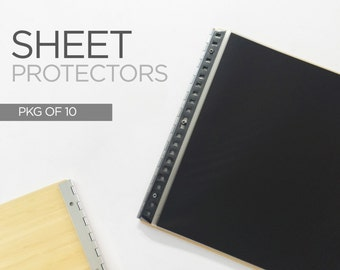 Sheet Protector - Plastic Sleeve for  Portfolios Landscape or portrait orientation - Pack of 10