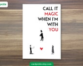 Coldplay Magic Card - I Love You Card - Happy Birthday - Happy Anniversary - Valentines Card