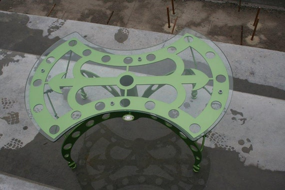 Green Feature Coffee Table