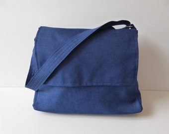 Navy Blue  Messenger bag/Crossbody bag/Diaper bag/tote/ Crossbody/Purses/Blue bag