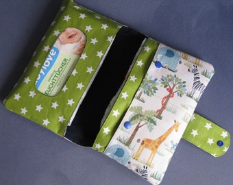 Diaper Clutch / Diaper Bag / Diaper Wipes Bag - jungle
