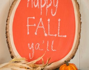 Fall, Orange Chalkboard