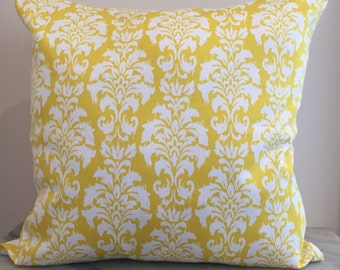 Yellow + White Moroccan Sateen Cushion Pillow Cover