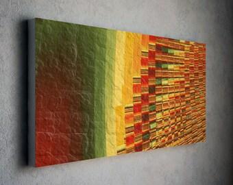 Orange abstract art canvas / abstract canvas art / canvas prints abstract / wall decor / wall art - modern canvas