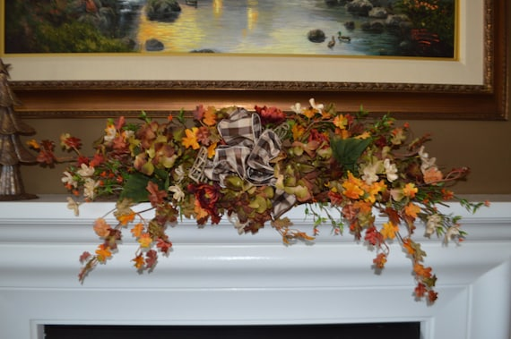 fall mantle swag mantle swag fall swag hydrangea swag fall