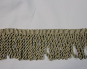 Taupe Twisted Rope Fringe - Decorative Trim 858