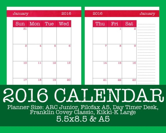 Arc Calendar Printables : Items similar to dated calendar brushstrokes hot