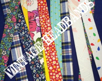 Vintage Fabric Headbands- Made to Order!