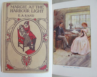 Gorgeous vintage 1920s hardback book~Very attractive cover~Great interior styling prop or photo prop~Charming illustrations