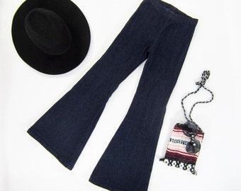 Girls Denim Bell Bottom Pants-Sizes 2/3, 4/5, 6/6x, 7/8, 10/12 Ready to Ship