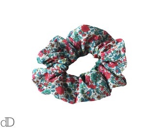 Red and Green Hair Scrunchie - Liberty Print - Hair Accessory - Hair Band - Ponytail - Topknot - Birthday Present - Sports Accessory