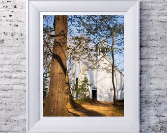 Cades Cove Methodist Church Photography Print Wall Art, The Great Smoky Mountains National Park, Landscape Photography, Photo Print