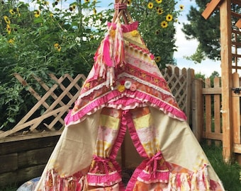 TEEPEE TENT, play tent, childrens teepee, kids teepee, kids tent, playhouse, play teepee, kids teepee tent, kids play tent, 6ft