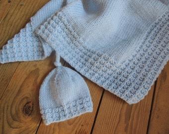 Knitting Pattern - Set - Vebs Hat and Blanket
